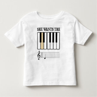 She Wants the D Piano Music Toddler T-shirt