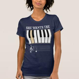 She Wants the D Piano Music T Shirt