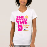 She Wants the D (Vitamin) Ladies Tank Top