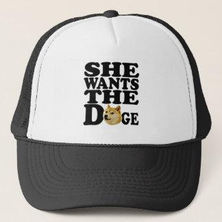 she wants the Doge Trucker Hat