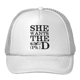 She Wants the PhD Trucker Hat
