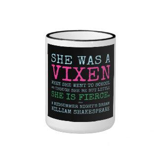 SHE WAS A VIXEN RINGER MUG