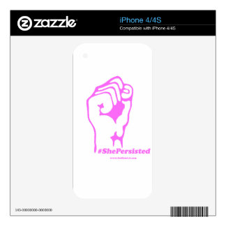 She Was Warned, Nevertheless, She Persisted Decal For iPhone 4