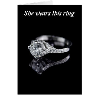 She wears this ring greeting cards
