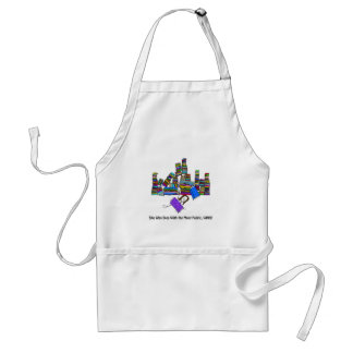 She Who Dies With the Most Fabric Wins Adult Apron