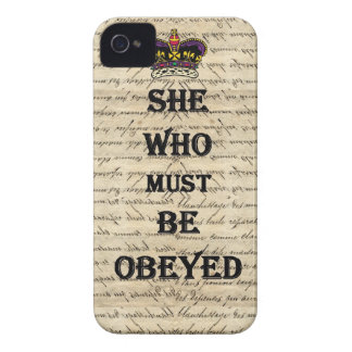 She who must be obeyed iPhone 4 Case-Mate case