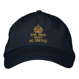 She Who Must Be Obeyed Keep Calm Crown Embroidered Baseball Hat