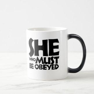 She who must be obeyed magic mug