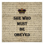 She who must be obeyed poster