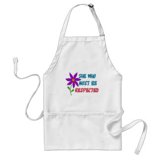 She Who Must Be Respected Adult Apron