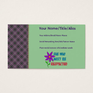 She Who Must Be Respected Business Card