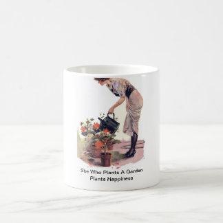 She Who Plants A Garden Plants Happiness Coffee Mug