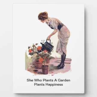 She Who Plants A Garden Plants Happiness Plaque