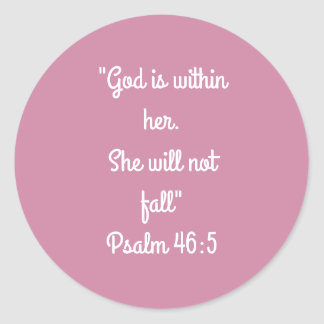 """She will not fall"" Craft Stickers"