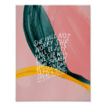She will not worry, she will be just fine poster