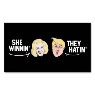 She Winning They Hatin' - - .png Business Card Magnet