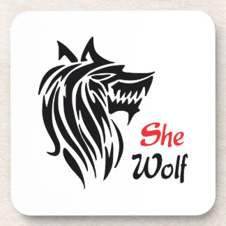 SHE WOLF DRINK COASTERS