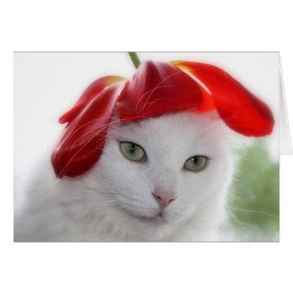 She Wore a Hat Shaped Like a Tulip Card