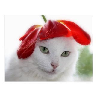 She Wore a Hat Shaped Like a Tulip Postcard