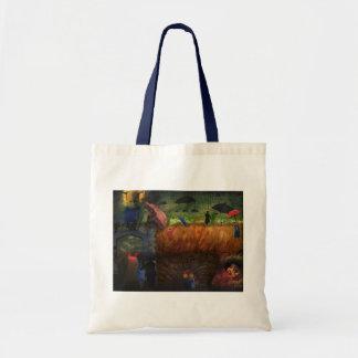 She Wore Blue Velvet Mix Media Art Tote Bag
