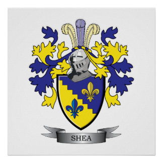 Shea Coat of Arms Poster