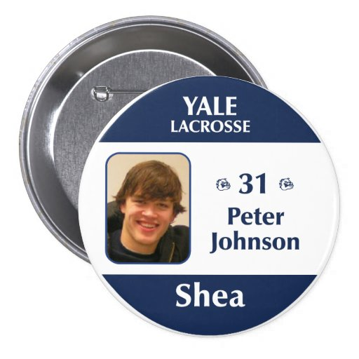 Shea - Peter Johnson 3 Inch Round Button