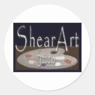 shear (1600 x 1159) classic round sticker
