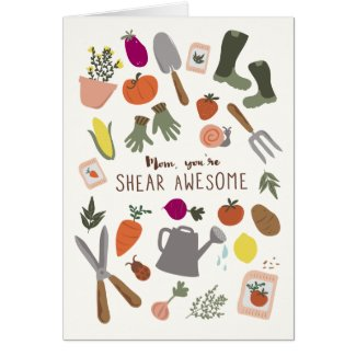 Shear Awesome Mom Card