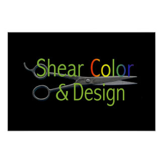 Shear Color & Design Logo Poster