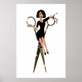 """Shear Diva"" African American Diva Posters"