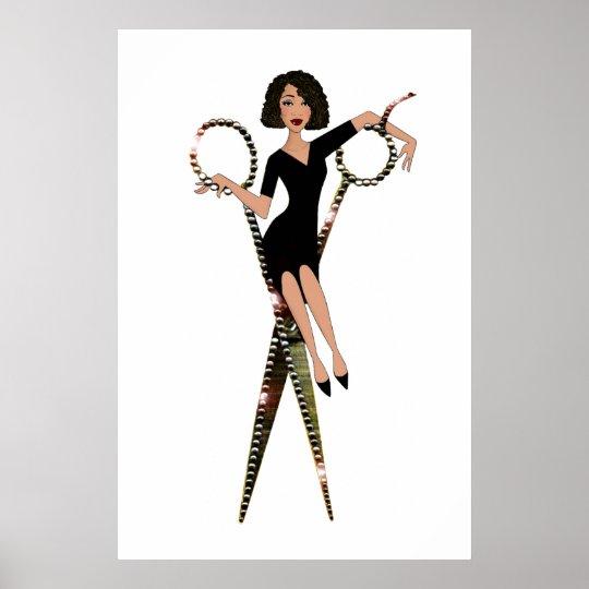 shear diva african american diva poster zazzle com