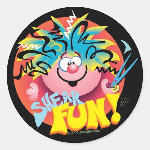 SHEAR FUN ©StyleStickers™ Classic Round Sticker