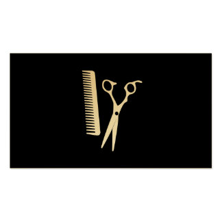 Shears & Comb (punch card 3) Business Card