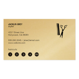 Shears & Comb (punch card 5) Business Card