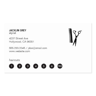 Shears & Comb (punch card 7) Business Card