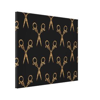 Shears (gold) canvas print