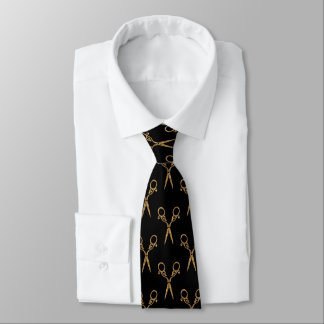 Shears (gold) neck tie