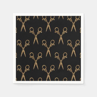 Shears (gold) paper napkin
