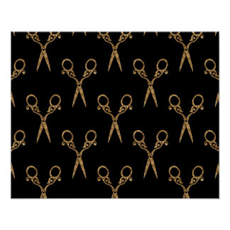 Shears (gold) poster