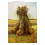 Sheaves of Wheat by Vincent van Gogh Card