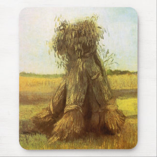 Sheaves of Wheat by Vincent van Gogh Mouse Pad