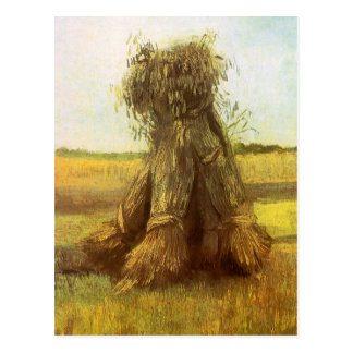 Sheaves of Wheat by Vincent van Gogh Postcard