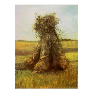 Sheaves of Wheat by Vincent van Gogh Print