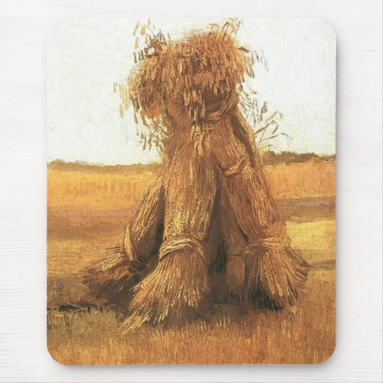 Sheaves of Wheat in a Field, van Gogh Mouse Pad