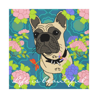 Sheba the bulldog canvas print