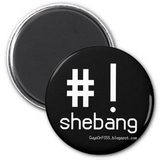 Shebang! 2 Inch Round Magnet