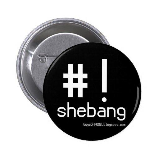 Shebang! Pinback Button