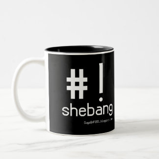 Shebang! Two-Tone Coffee Mug