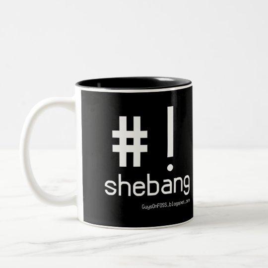 Shebang! Two-Tone Coffee Mug