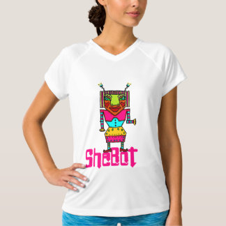 Shebot Girly Robot Doodle T-Shirt